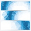 Abstract geometric banners (headers) — Stock Vector #32720469