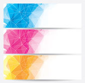 Abstract geometric banners (headers) — Stock Vector