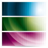 Abstract wavy banners (headers) — Stock Vector