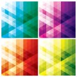 Abstract triangle backgrounds — Vector de stock