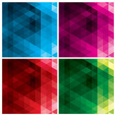 Abstract triangle backgrounds — Stock Vector