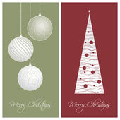 Red and green christmas card backgrounds — Stock Vector