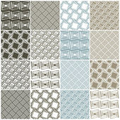 Geometric seamless patterns: squares — Stock Vector