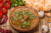 Kharcho.Georgian beef-walnut soup — Stock Photo