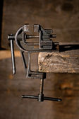 Old vise — Stock Photo