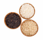 Three kind of rice — Stock Photo