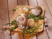 Frozen mushrooms — Stock Photo