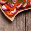 Tomato with red onion — Stock Photo