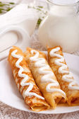 Rolled pancakes — Stock Photo