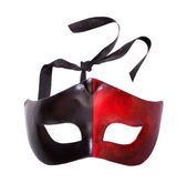 Male black and red carnival mask — Stock Photo