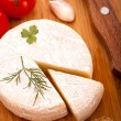 Brie cheese top view - Stock Photo