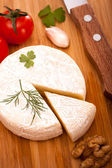 Brie cheese top view — Stock fotografie
