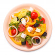 Greek salad isolated — Stock Photo #25881485