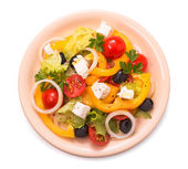 Greek salad isolated — Stock Photo