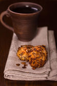Two cookies and mug of tea still-life — Stock Photo