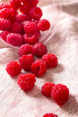 Pile of ripe raspberry — Stock Photo