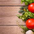 Vegetables and herbs background — Stock Photo #29745895