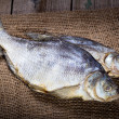Two salted dry fish — Stock Photo