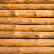 Log hut wooden wall background. — Stock Photo #31562843