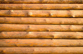 Log hut wooden wall background. — Stock Photo
