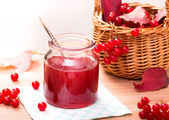 Homemade viburnum jam — Stock Photo