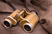 Old military binoculars — Stock Photo