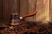 Türk kahve bira — Stok fotoğraf
