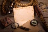 Medieval sea adventure concept — Stock Photo