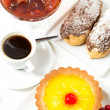 Various cakes with jam — Stock Photo