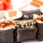 Japan sushi rolls — Stock Photo #38403665