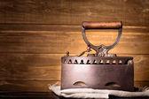 Vintage charcoal iron — Stockfoto