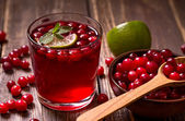 Fresh cranberry drink — Stock Photo