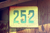 Vintage house number two hundred fifty-two — 图库照片