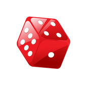 Vector illustration of red dice — Stock Vector