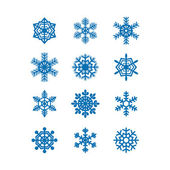 Snowflakes icon collection. Vector — Stock vektor