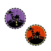 Halloween banners ou toppers cupcake. — Vetorial Stock