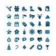 Christmas and Winter icons collection - Stockvektor