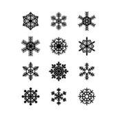 Snowflakes collection. Vector — Stock Vector