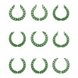 Royalty-Free Stock Vector Image: Laurel wreaths