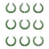 Laurel wreaths — Stock Vector