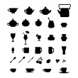 Royalty-Free Stock Vector Image: Collection of cups, teapots and other items.
