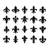 Heraldic symbols (fleur de lis) — Stock Vector