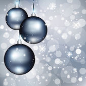 Christmas background with balls — Stok Vektör
