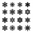 Snowflakes icon collection. Vector — Stock Vector
