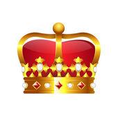 Corona de oro realista — Vector de stock