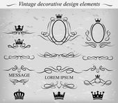 Decorative design elements. Vector. — Stock Vector