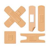 Illustration of medical bandages — Stock Vector
