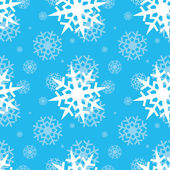 Snowflakes on blue sky — Stock Vector