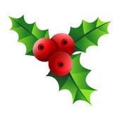 Christmas mistletoe icon — Stock Vector