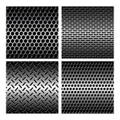 Seamless texture metal grids background — Stock Vector